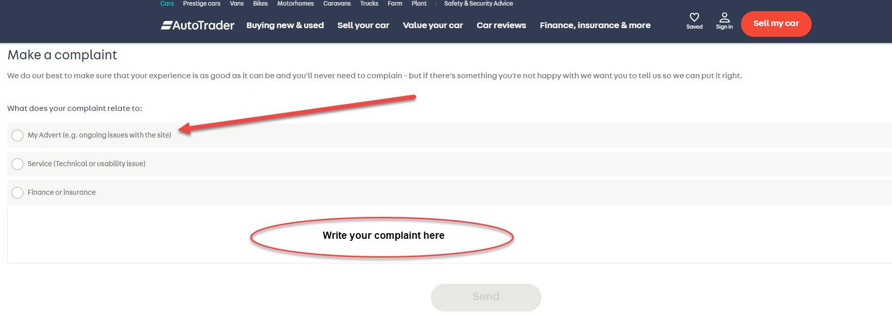 Autotrader complaints